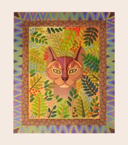 Portrait of Katie the Cat by Bridget Derc