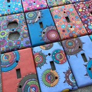Switchplates by Katie Way of Bull's Eye Studio