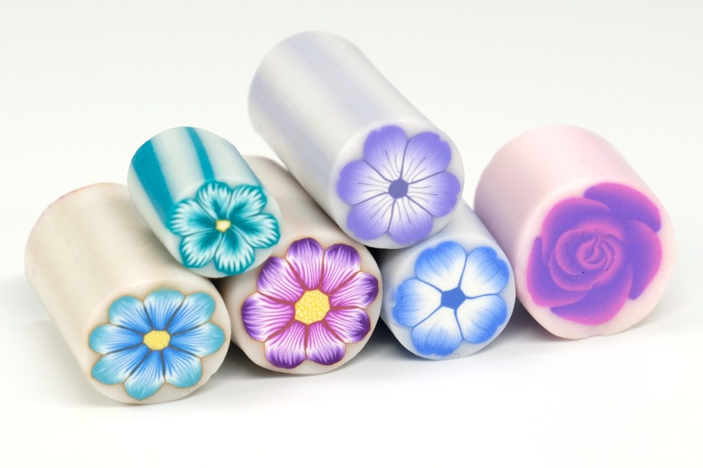 Flower canes can be made in any color.