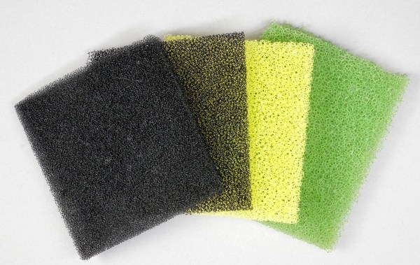 small pieces of filter sponge