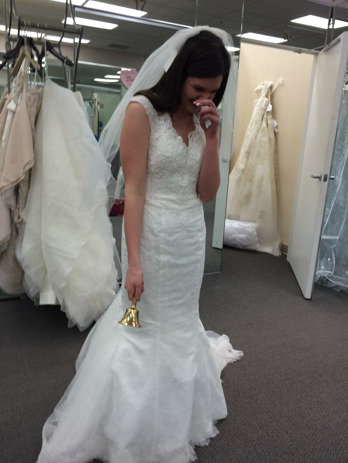 Crying when I found my dress
