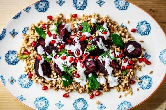 Farro and roasted Beetroot Salad