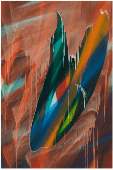 Untitled, 2016 Acrylic on canvas 114 3/16 × 76 inches (290 × 193 cm)