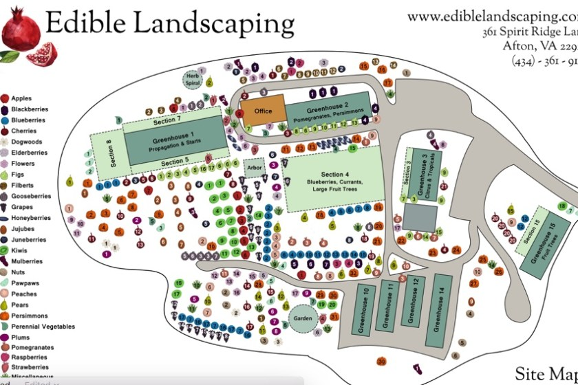 Edible Landscaping (434-361-9134) 361 Spirit Ridge Ln. Afton, VA
