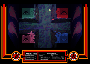 Atari Warlords 4 Player Game Screen