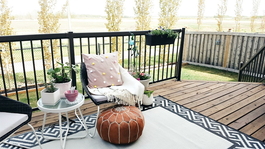 boho inspired backyard patio makeover