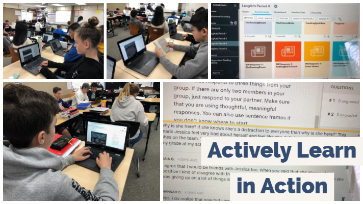 Students using Actively Learn