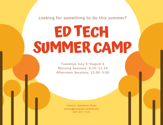 Ed Tech Summer camp flyer