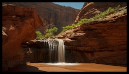 Nameless Waterfall No. 3, Coyote Gulch, Grand Staircase Escalante National Monument