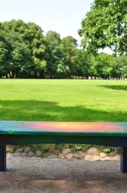 park with NO GO grass area