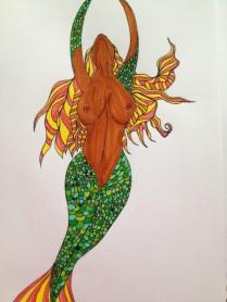 Mermaid. 2013. Bobby-james. Marker