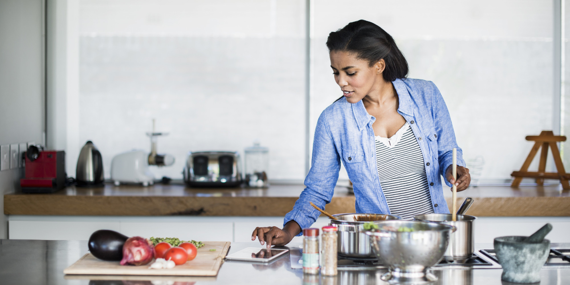 Image result for BLACK WOMANCooking a Homemade Meal