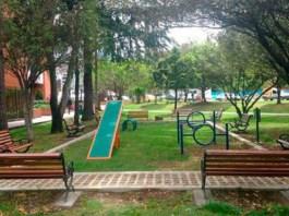 Dog park in Parque Chico Bogota