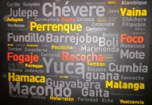 Spanish words, Colombian Spanish Vocabulary