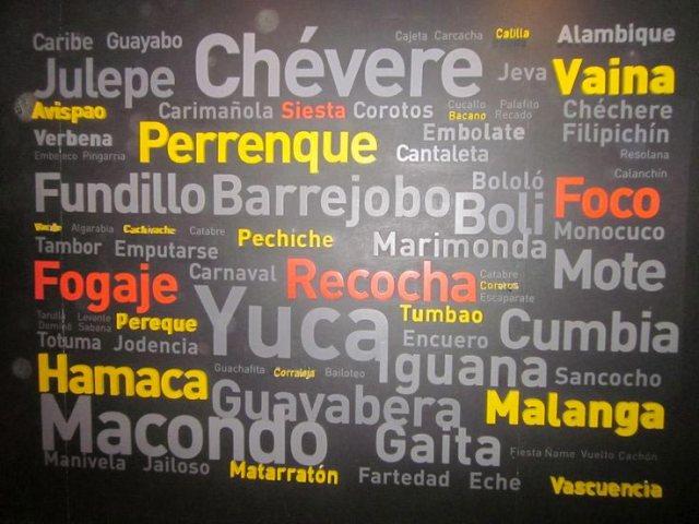 Colombian Spanish Vocabulary, Spanish words