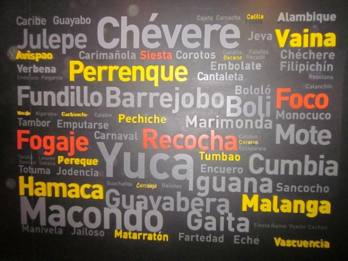 Colombian Spanish Vocabulary, Spanish words