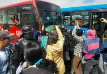 Transmilenio protests