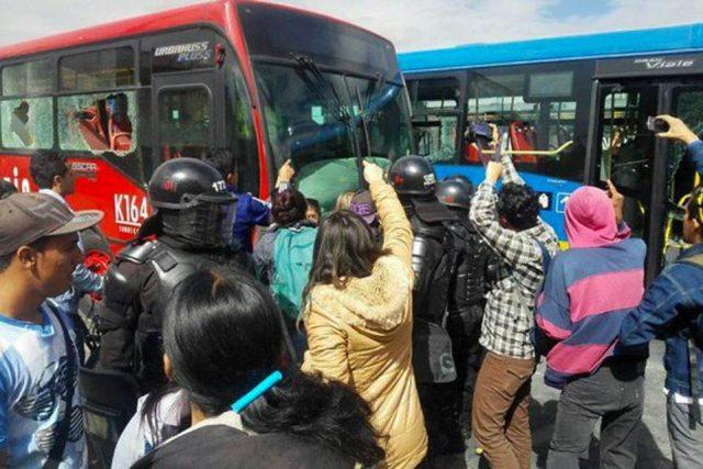 Transmilenio protests