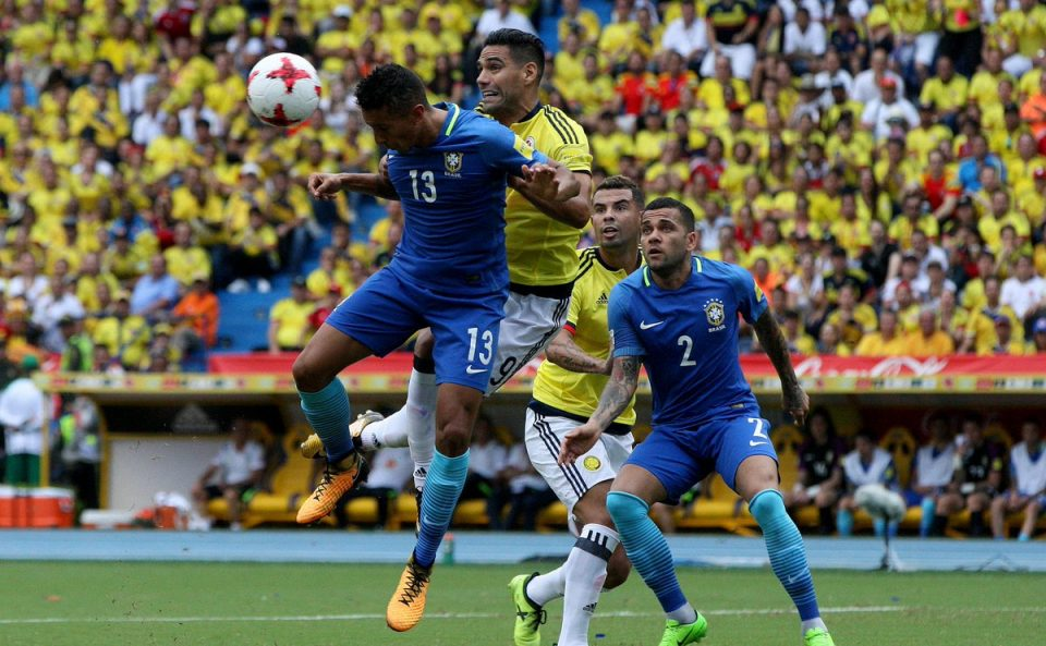 Colombia vs Brazil World Cup Qualifying CONMEBOL (1-1)""