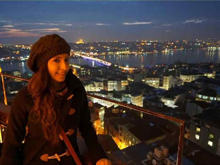 At the Galata Tower in Istanbul