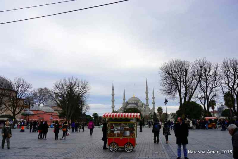 Looking at the Blue Mosque from the Aya Sofya