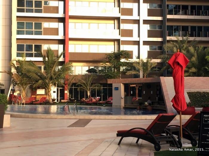 Pool area- park rotana abu dhabi