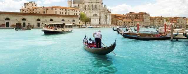 Or in a gondola in Venice!
