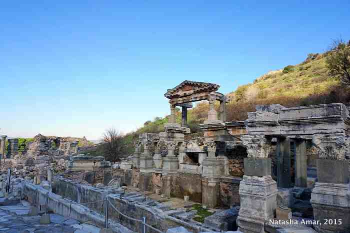 Ancient Ephesus Roman Ruins and Feline Keepers
