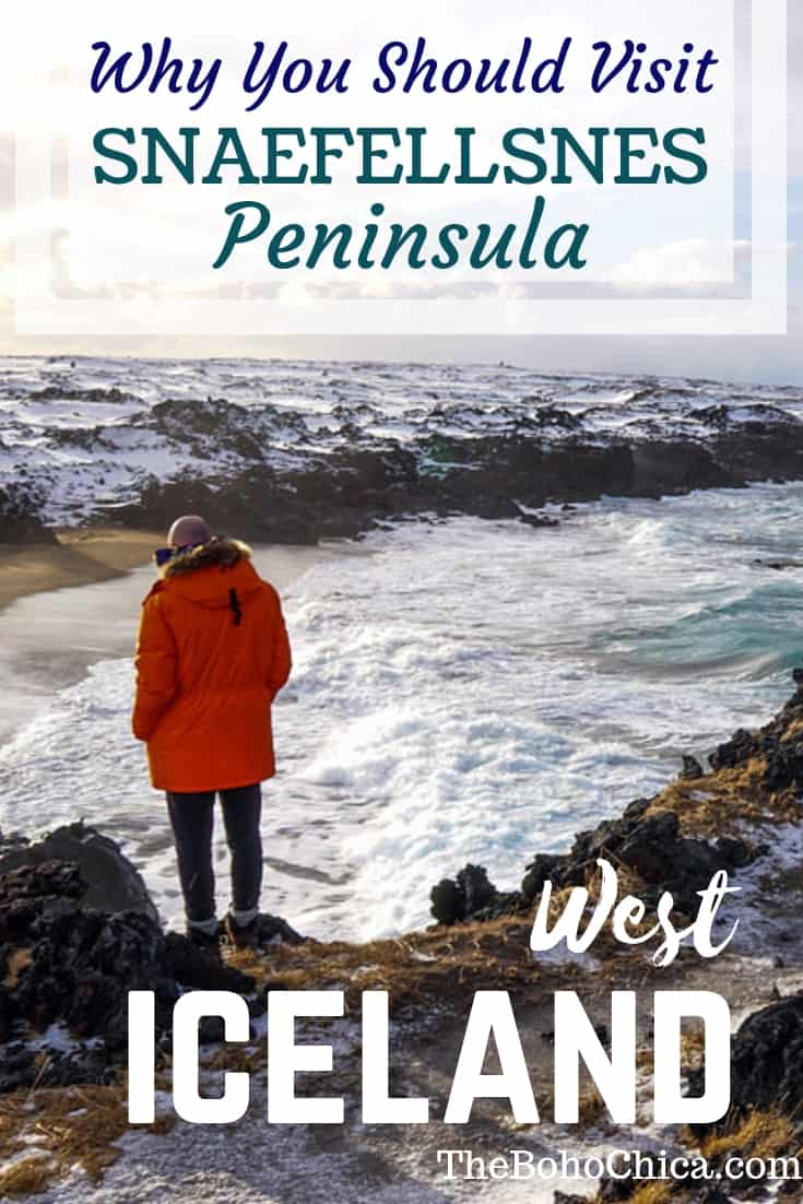 West Iceland Highlights- Snaefellsnes Peninsula: Remote and dramatic landscapes minus the crowds of the South Coast of Iceland, the Snaefellsnes Peninsula should be a must-do on your Iceland itinerary. #snaefellsnes #snaefellsnespeninsula #iceland #icelandtravel