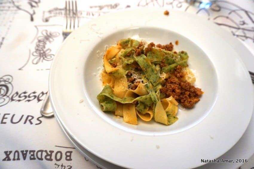 Tagliatelle ragu-Pasta in Bologna, Italy