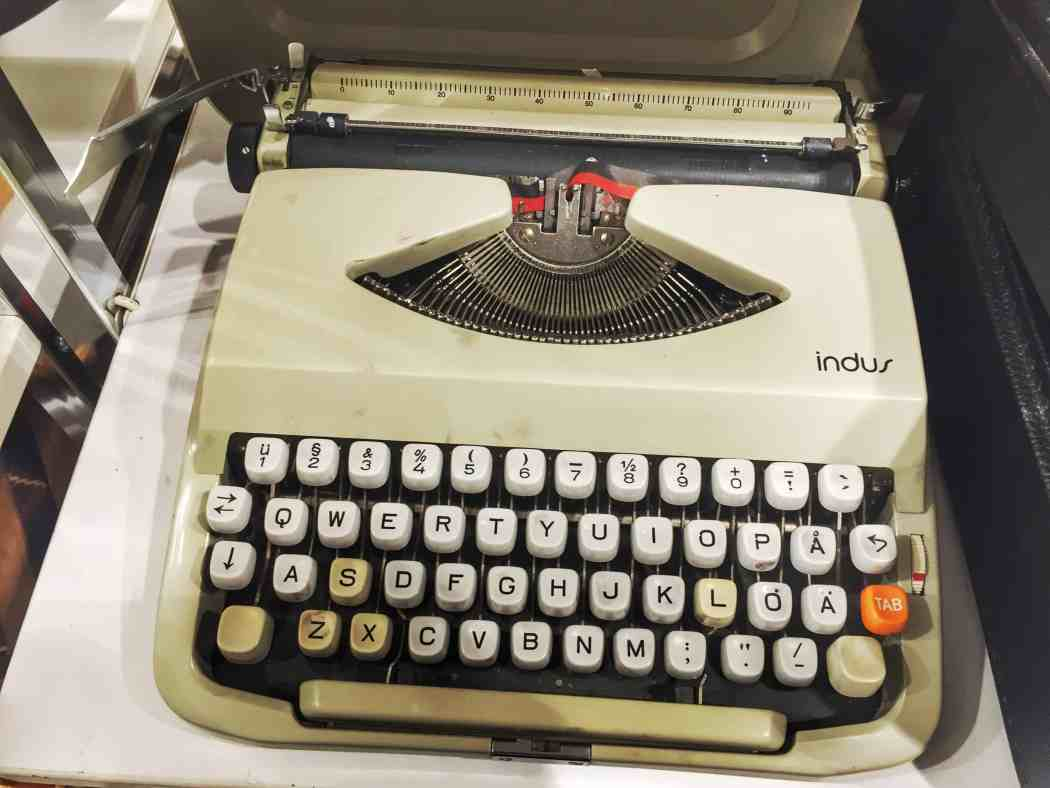 Typewriter in a second-hand store in Stockholm