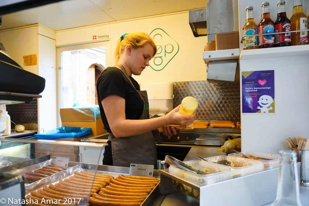 Copenhagen Food Tour: DØP hotdogs in Copenhagen