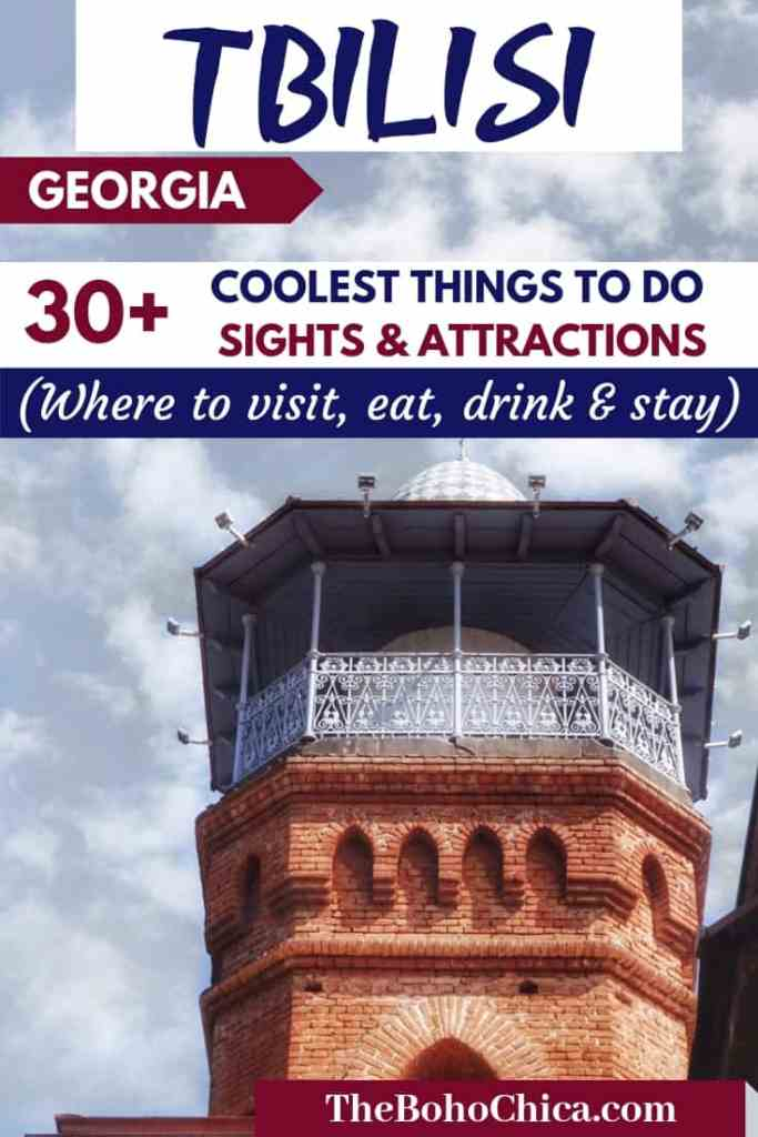 Your ultimate guide to traveling to Tbilisi, Georgia plus the best things to do and coolest places to visit in Tbilisi. I've added lots of practical tips and recommendations on where to stay, where to eat and drink, nightlife, shopping, sightseeing and attractions, plus info on visa, SIM card etc to help you plan your trip to Tbilisi, Georgia. #Tbilisi #Georgia