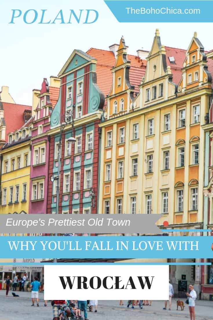 Top Things to do in Wrocław: this lovely city in Poland is thought to have one of Europe's prettiest old towns. Explore its stunning architecture, rich culture, cool craft breweries, quirky cafes and interesting markets without the crowds of other cities in Europe. #Wrocław #Poland