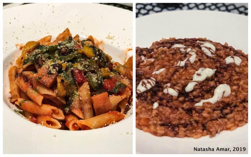 Italian food at Azure