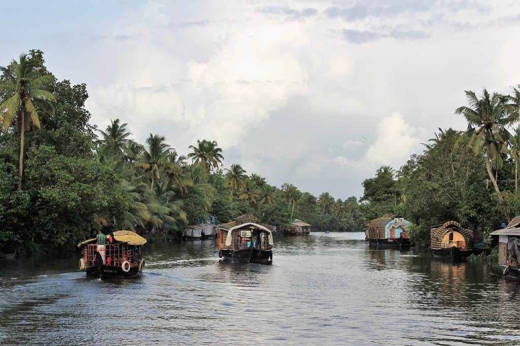 Here's what it's like to see the backwaters of Kerala on a Kerala houseboat. My tips on how to find an Alleppey houseboat that suits your budget and preferences, from AC and luxury houseboats to more basic options. This is an excellent way to see slow village life and beautiful nature in Kerala. #humanbynature