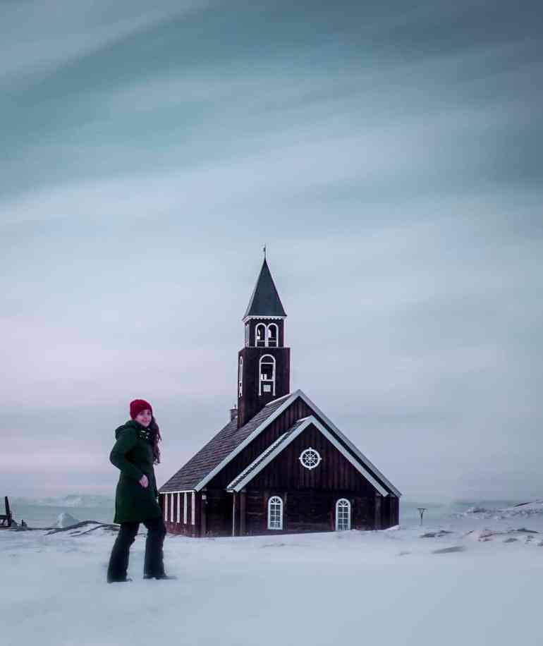 Zions kirke in Ilulissat Greenland