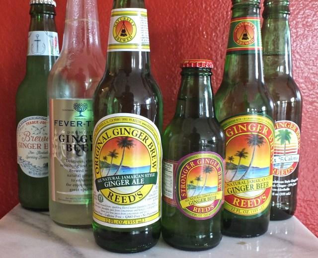 Various bottles of Ginger Brew
