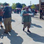 Bringing the Swine Stewards judge's box to front