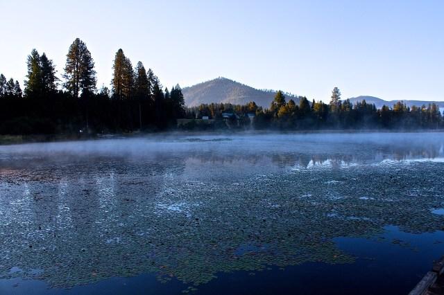 Early morning fog Rose Lake, Kootenai County