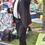 Elwood working the crowd at Idaho Botanical Gardens CU