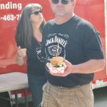 Getting the Boise Sandwich from Spud's Catering BBQ