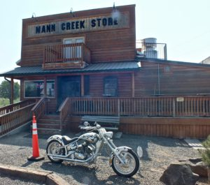 Entrance to Mann Creek Country Store and Cafe.