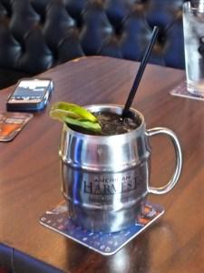Moscow Mule in pewter mug