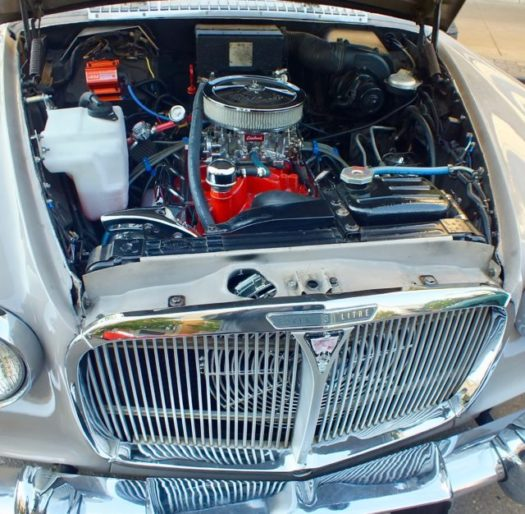 Rover engine compartment view
