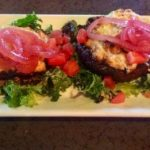 Stuffed Mushrooms Appetizer plate
