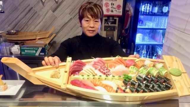 Sushi Boat Combo at Fujiyama Japanese Sushi House