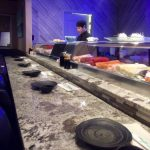 Sushi Chef at Sushi Bar at Fujiyama Japanese Sushi House
