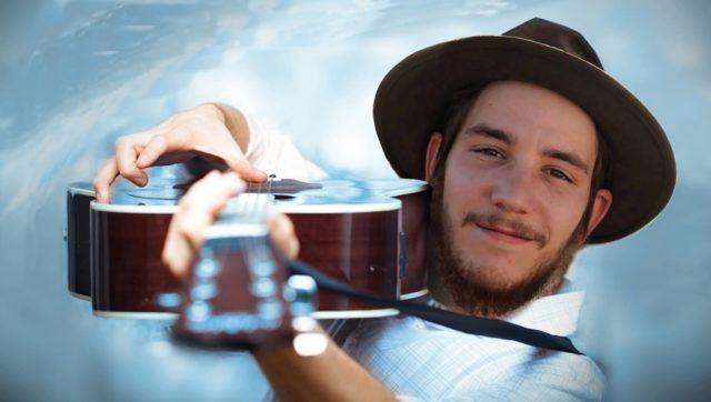 Corey James and his guitar