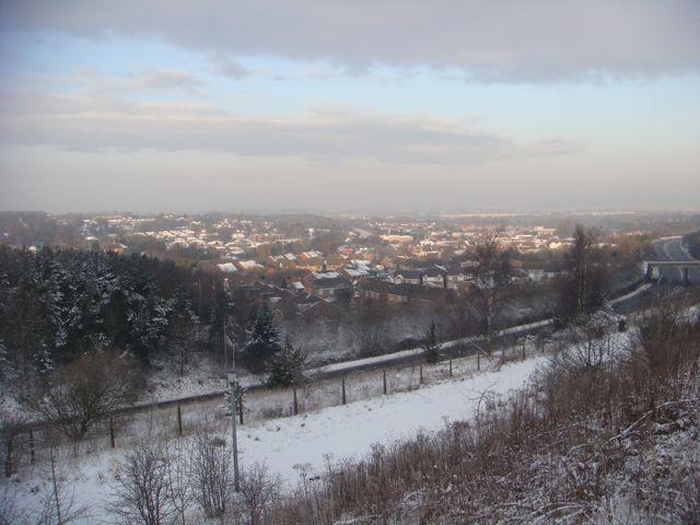 Snowy views over Telford